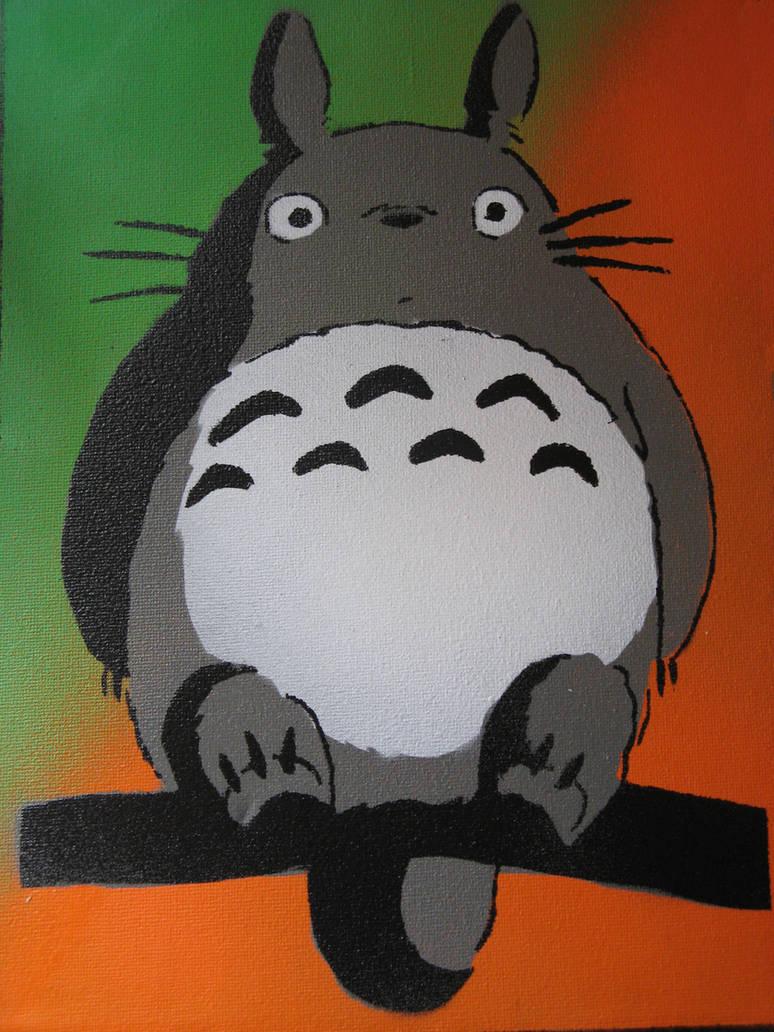 Totoro stencil