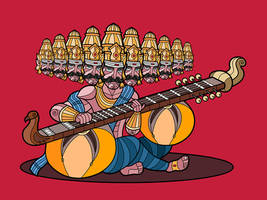 Ravana and the Rudra Veena by artofkarthik