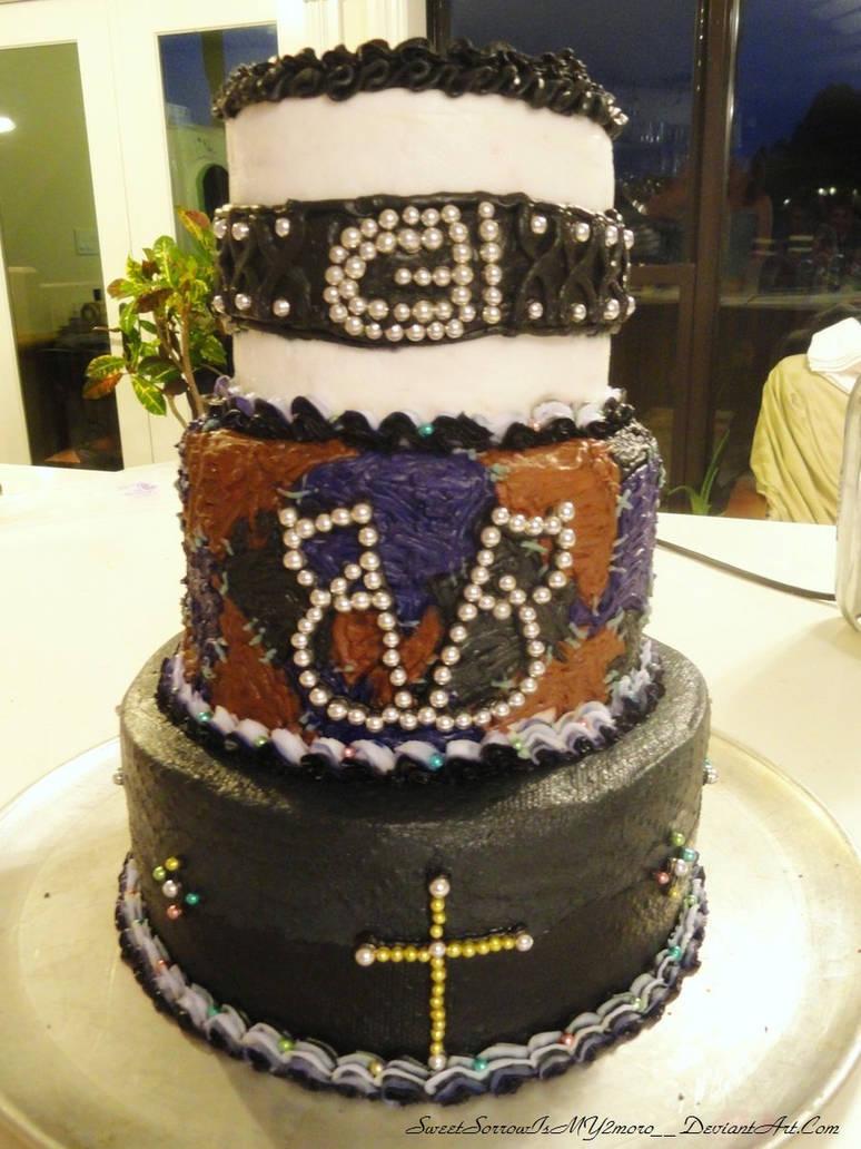 Black Veil Brides cake by SweetSorrowIsMY2moro