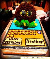 Yu-Gi-Oh Kuriboh Cake by SweetSorrowIsMY2moro