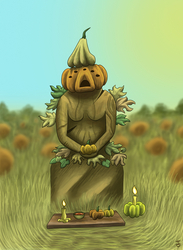 The Pumpkin Goddess by Laestr