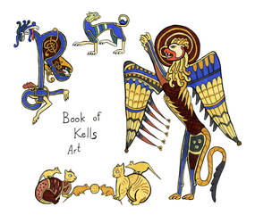 Irish sketches: Book of Kells Art