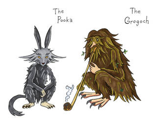 Irish sketches: Pooka and Grogoch