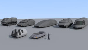 A few Traveller vehicles (WIP)