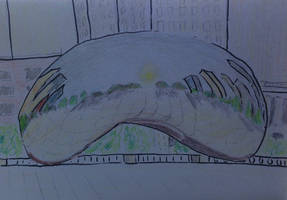 Bean (Cloud Gate) by Toadinthegarden