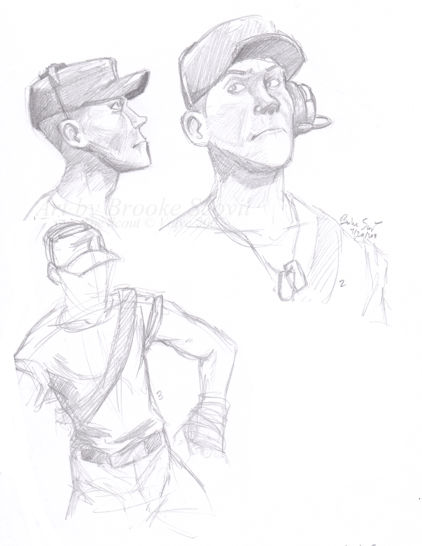 How To Draw Tf2 Scout