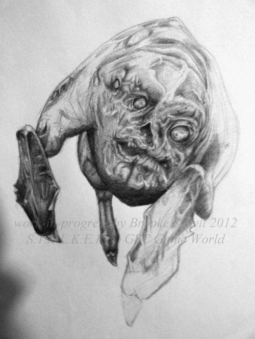 S.T.A.L.K.E.R. Flesh -work-in-progress- by birdofyore