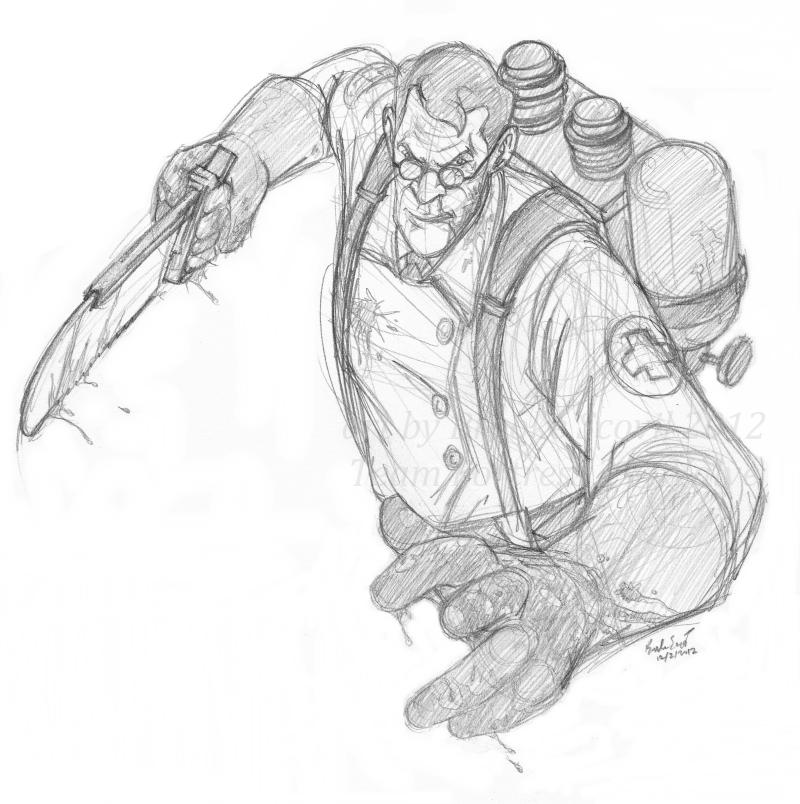 TF2 Battle Medic -sketch- by birdofyore