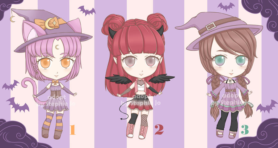 Halloween Adopt Batch [OPEN 2/3]! by Stephie-Jo