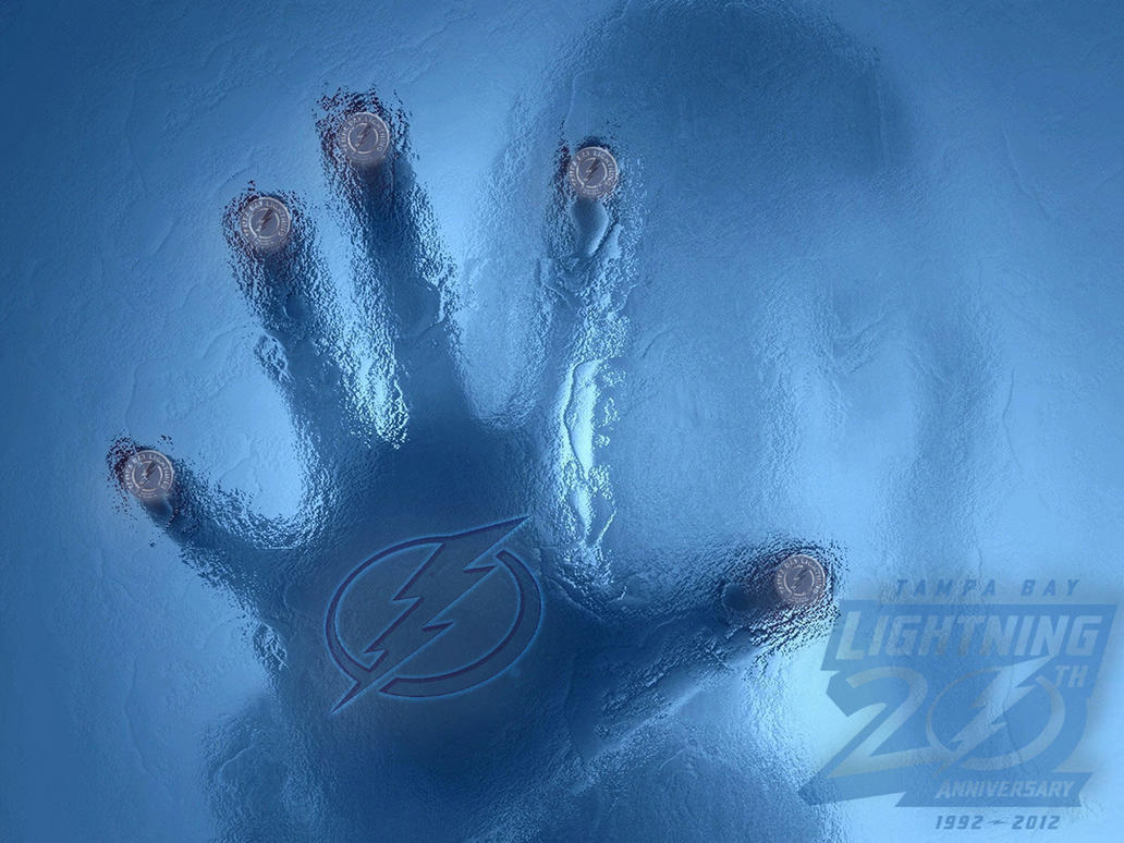 Tampa Bay Lightning Frost Wall Wallpaper By Realyze