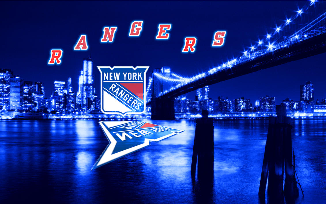 NHL New York Rangers Blue City Wallpaper By Realyze