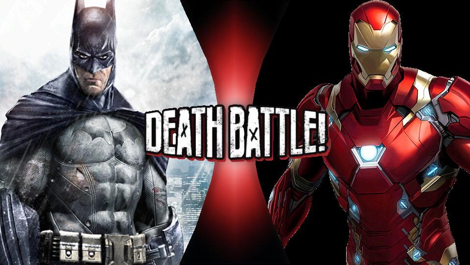 death battle batman vs iron man by theroseflower on