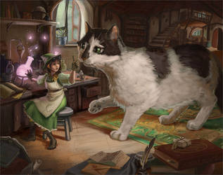 Alchemist and her Cat by kGoggles