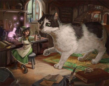 Alchemist and her Cat