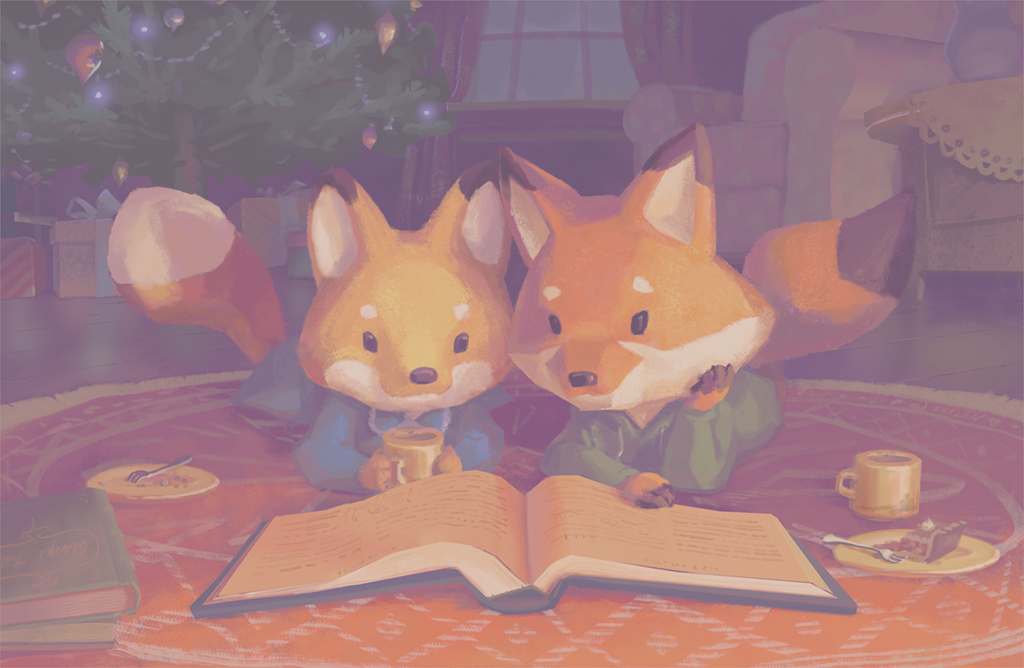 Foxes by the Fireplace by kGoggles