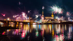Dresden at new years eve 2017/2018