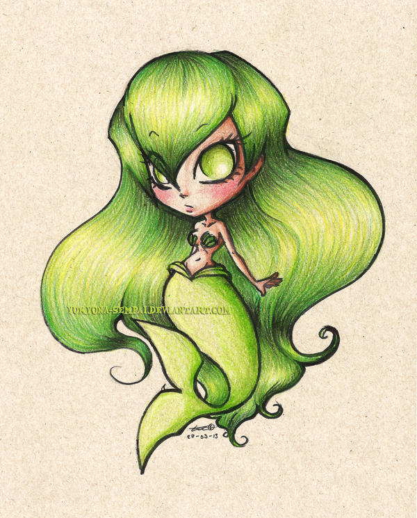 Green Mermaid by Yukyona-G-R