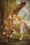 Alice meets Thumbelina