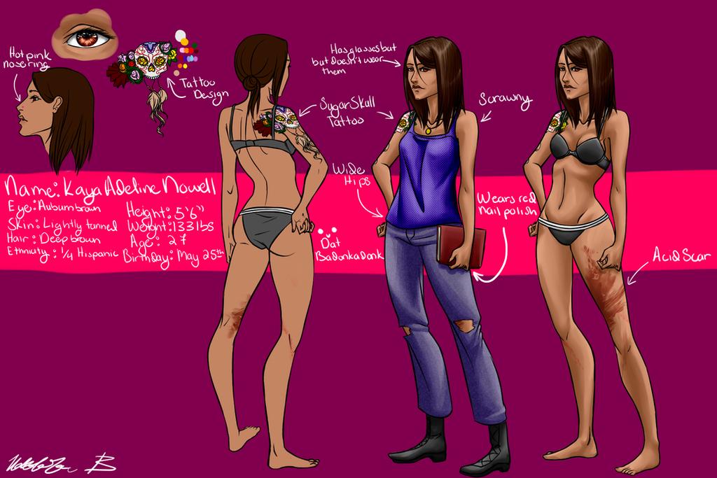 Kaya Character Sheet by ProtectiveSpell1