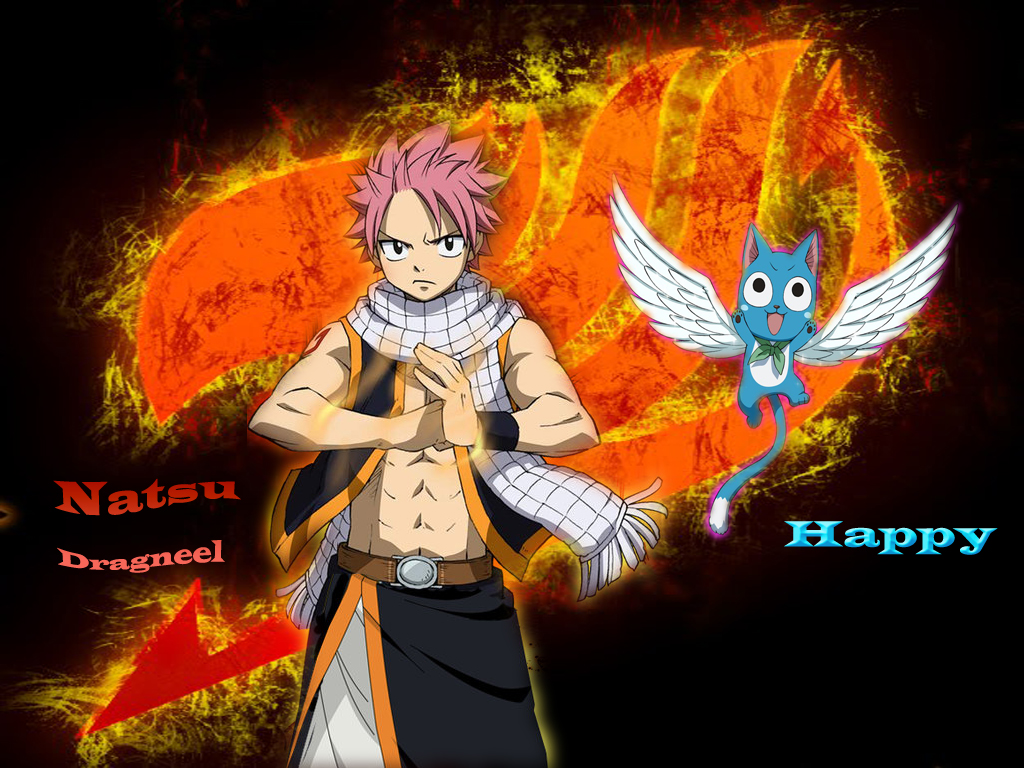 fairy tail natsu and happy wallpaper by heongle on deviantart