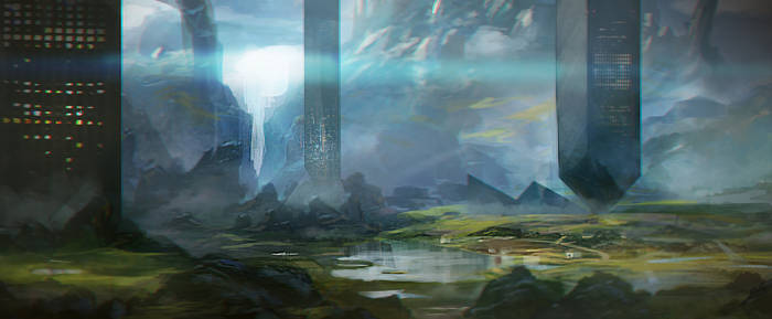 Sci fi landscape speed paint