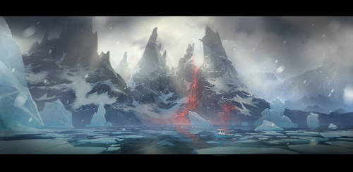 Ice Volcano by MaxiimusT