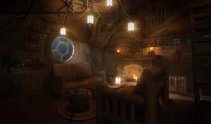 Cosy Treehouse inside
