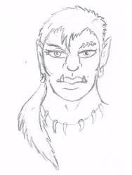 Jasper - Half-Orc Barbarian by AutoBubbs