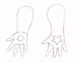 'Bunny' Agate - Outfit design 1 - Gloves