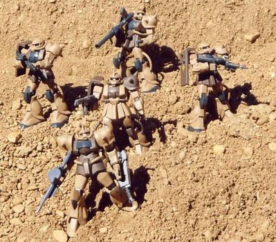 Desert Zaku's, Pride of Zeon-1 by AutoBubbs