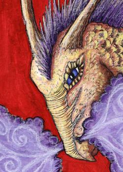 Purple-Maned Dragon by Kelesaii