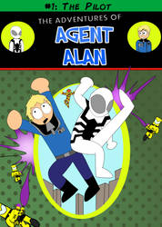The Adventures of Agent Alan #1 Cover by Left-Cyan-Circle