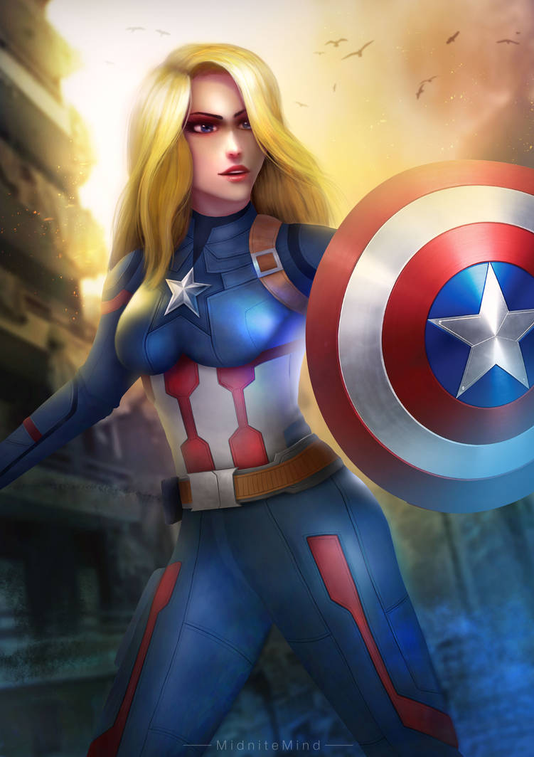 Captain America (Female Fanart) by midnitemind on DeviantArt