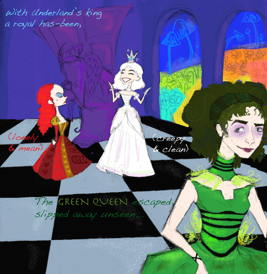 Green Queen - with poem by dani-carip