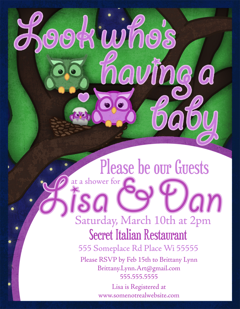 Owl Baby Shower Invite by TheQuietWriter