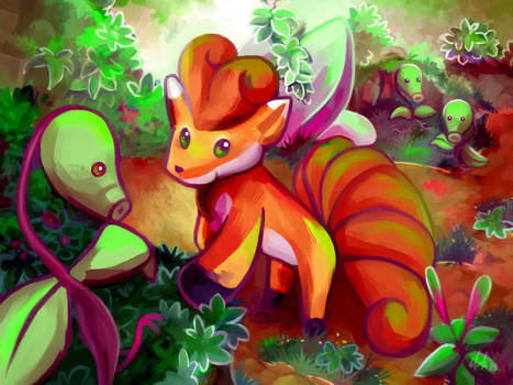 Vulpix #37 and Bellsprout #69