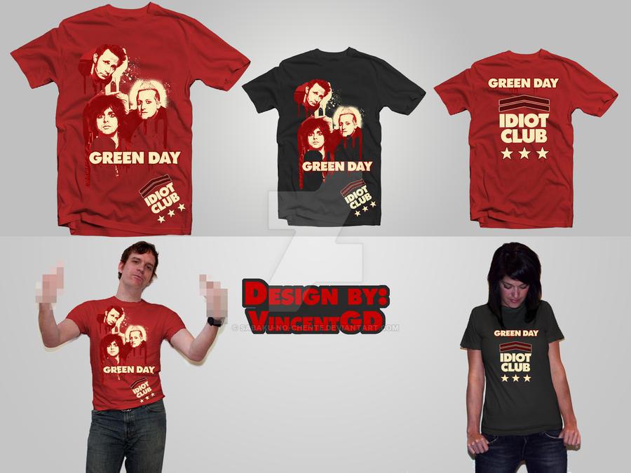 Green Day T-Shirt Design by Sabaku-no-Chente