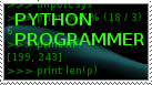 Python programmer stamp by GaussianCat