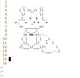 ASCII Art Fox by GaussianCat
