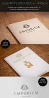 Elegant Paper Press Logo Presentation Mock Up