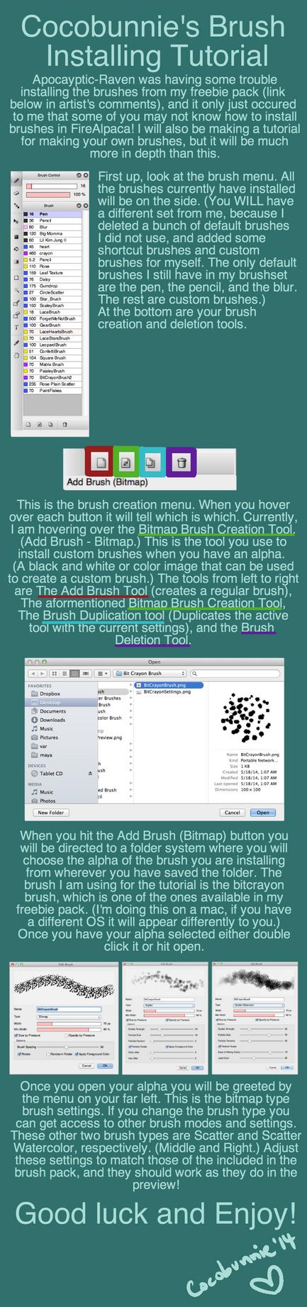 Tut: Brush Installing Tutorial by cocobunnie