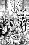 Thor, Odin, Hela, Wolves-Crows