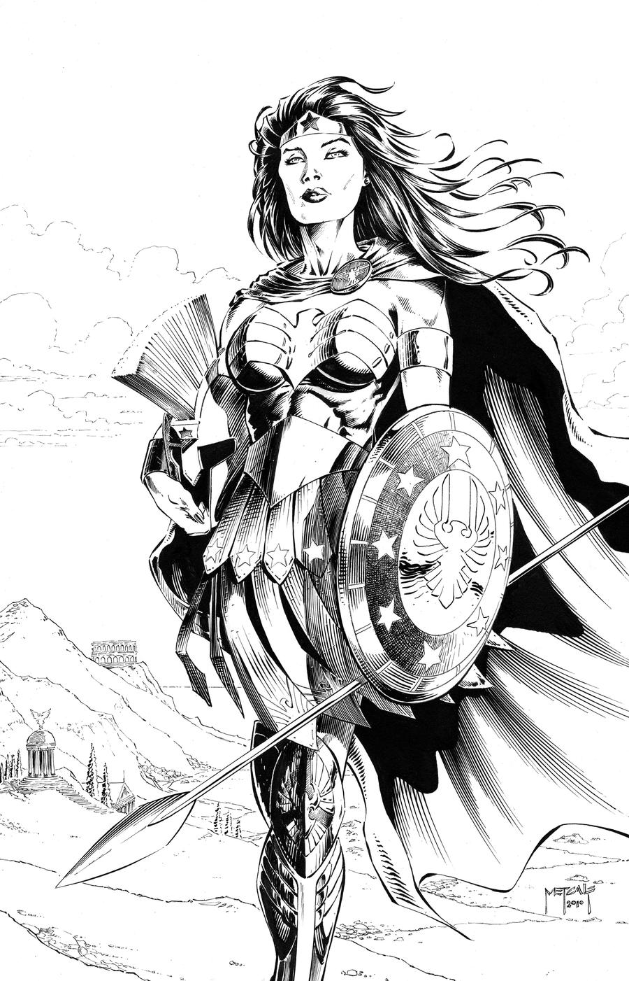 The Women Of Dc Comics Ink In Adam Withers S Dc Comics: Wonder Woman In Armor By JasonMetcalf On DeviantArt