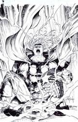Thor - Cap - death of Cap by JasonMetcalf
