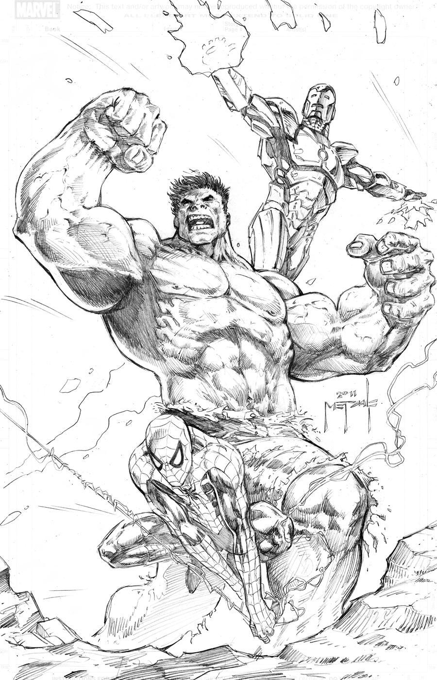 hulk spidey iron man by jasonmetcalf on deviantart