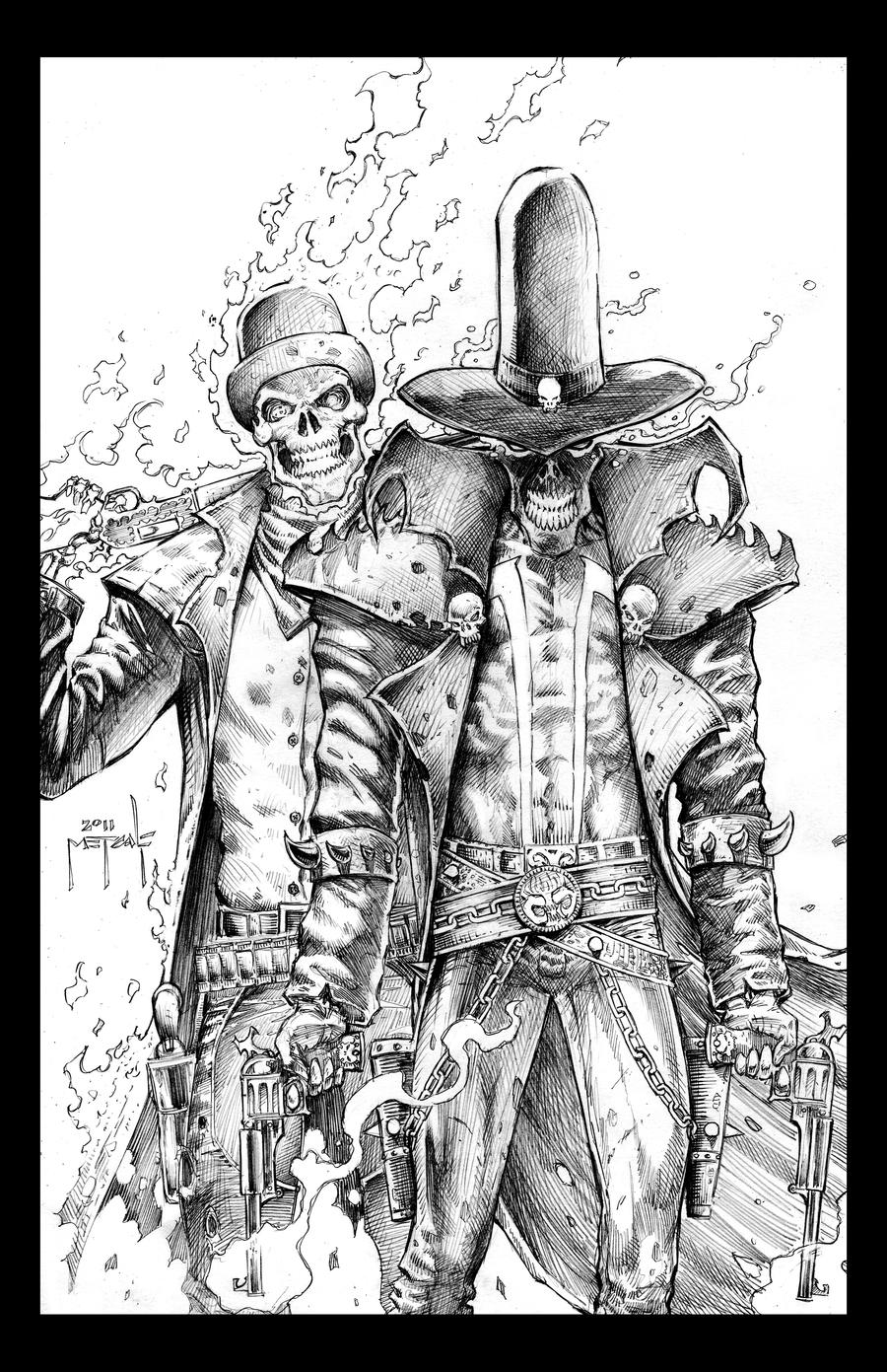 Cowboy Ghost Rider and Spawn by JasonMetcalf on DeviantArt