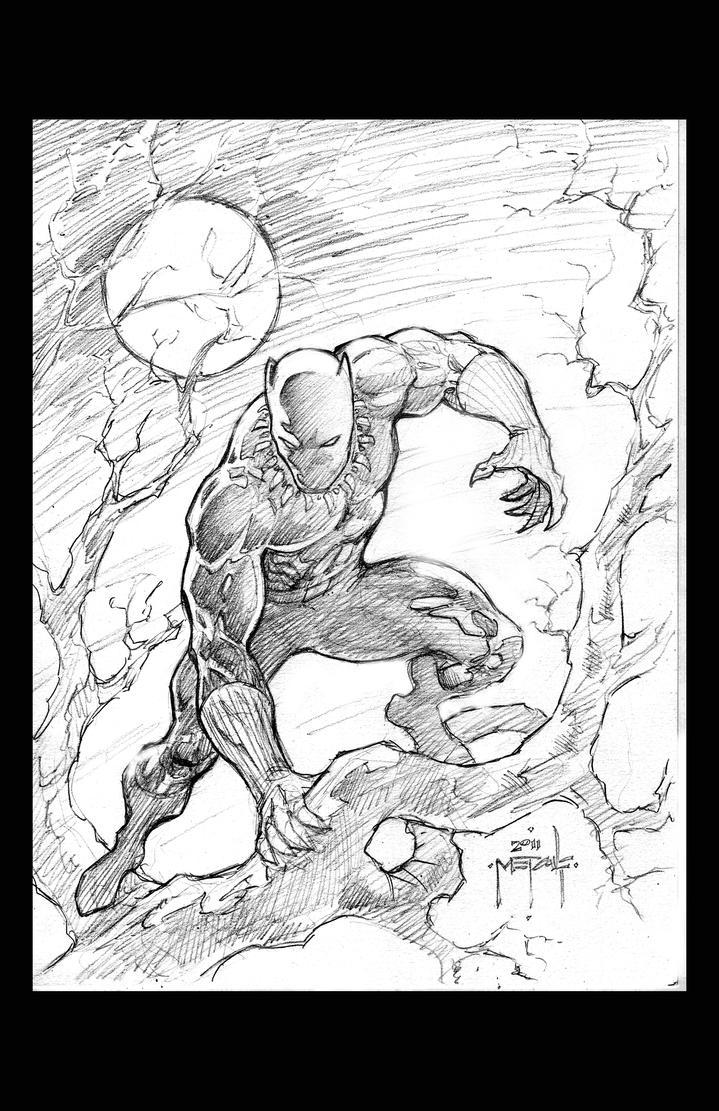 Black Panther Sketch - Jason Metcalf By JasonMetcalf On DeviantArt