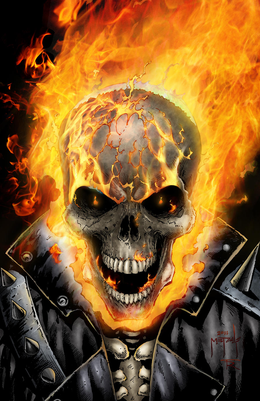 Ghostrider by jason metcalf and todd rayner by - Dessin de ghost rider ...
