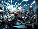 Bane vs. Batman and Legion of Super Heroes