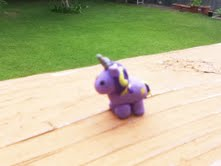 Miniature Purple Clay Unicorn by thepurpleunicorn